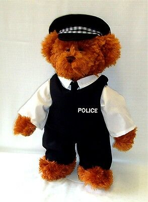New Lindon Jointed Teddy Bear In British Policeman Uniform – 16Inch / 40Cm Tall