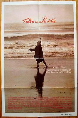 TELL ME A RIDDLE Orig Movie Poster 1980 FOLDED One Sheet 1SH Melvyn Douglas