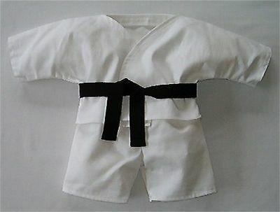NEW TEDDY BEAR JUDO OUTFIT FITS TEDDY BEARS 16 INCH / 40cm TALL – MADE IN THE UK
