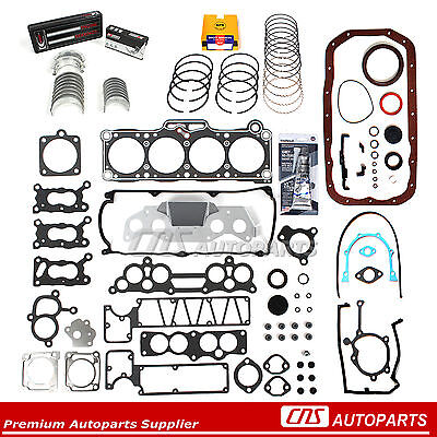 87-93 2.2L MAZDA B2200 8V F2 FULL GASKET SET BEARINGS RINGS Engine Re-Ring Kit