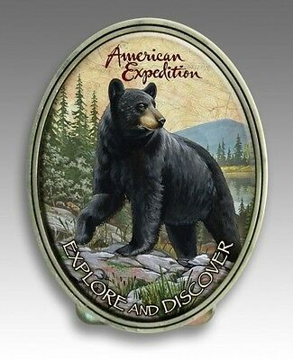 American Expedition Black Bear Metal Money Clip NIB Men's Father Gift MCLP-101