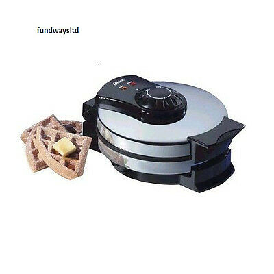Oster 3883 Belgian Waffle Maker Wafflemaker NEW IN BOX Chrome Cool-Touch Handles
