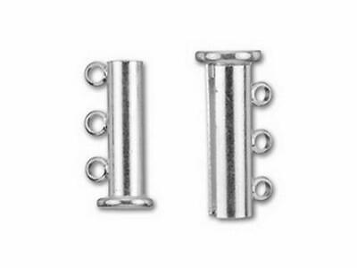 Silver Overlay Multi Strand Clasp With 3 Hole CSF-231