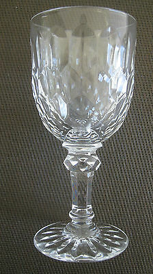 """ONE BACCARAT """"JUVISY"""" CUT CRYSTAL WHITE WINE GOBLET - PERFECT UNUSED CONDITION"""