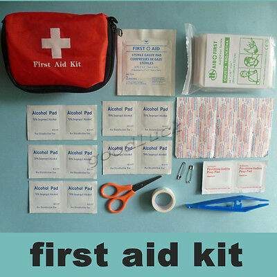 9-in-1 Home Survival Camping Car Travel Office Emergency First Aid Kit Bag Pack
