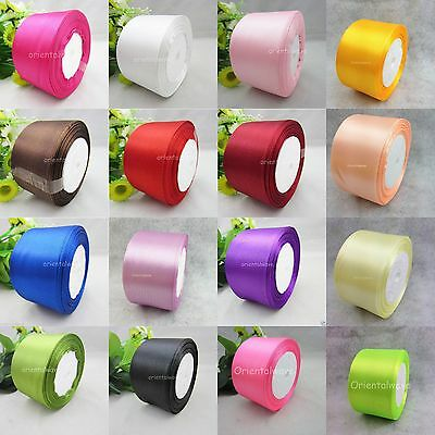 "25 Yds 50mm(2"") Multicolor Purposes Wedding Party/Craft Satin Ribbon Beautiful"