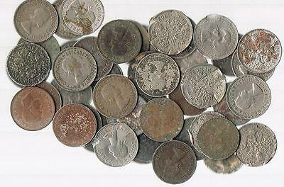 LOT OF 95 British Wedding Queen  Elizabeth Lucky Sixpence UK - BLOWOUT PRICE