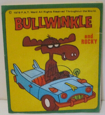 Bullwinkle Moose From Rocky & Bullwinkle Mini Notepad Paper Booklet 1979