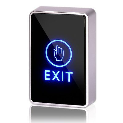 Door Touch Exit Button Push Office Release Switch Access Control LED Light