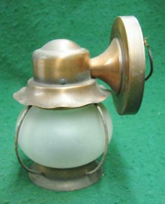 Vintage Copper Out door Porch Light Fixture Sconce #1587-13