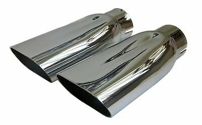 69-72 Chevelle SS LS5 LS6 LS3 Tail Pipe Chrome Dual Exhaust 2.5 Tip Tips Pair
