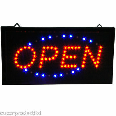 US seller Slim Animated LED Neon Light Open Window Sign Bright Store Display NEW