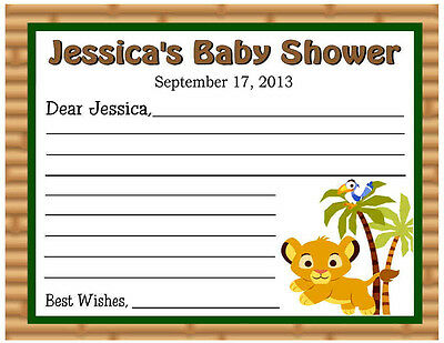 20 Lion King Baby Simba Baby Shower Advice Cards