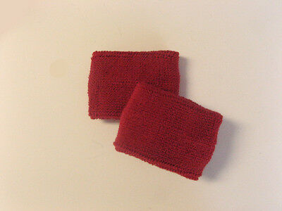 Sports Quality Dark Red Sweat Band Wristbands