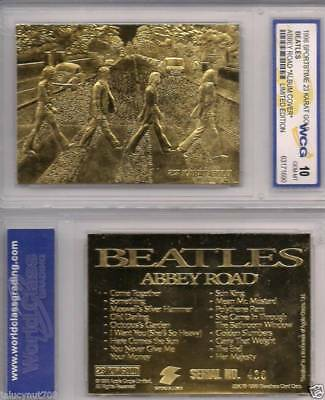 "1996 Beatles (Abbey Road Album Cover) Limited Edition 23Kt Gold Card ""Grade 10"""