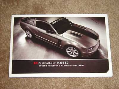 2008 saleen owners manual s302 extreme handbook ford mustang rh picclick com User Manual Template User Manual Icon