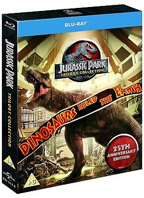 JURASSIC PARK 1-3 TRILOGY COLLECTION (2018 25th Anniversary) - BLU-RAY Reg Free