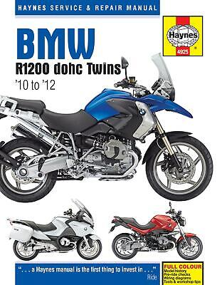 Haynes Motorcycle Manual BMW R1200 Twins 10-12 Bike Workshop Manuals, Book 4925