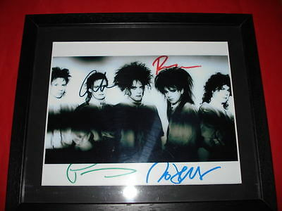 THE CURE SIGNED 10X8 FRAMED MOUNTED PHOTO robert smith