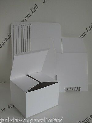 10 x Smooth White Boxboard Gift/Presentation Packing Box L113xW90x76mm AM176