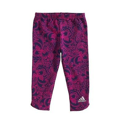 BRAND NEW! Baby Girl ADIDAS Floral Paisley Leggings Pink Purple 12 18 Month Size