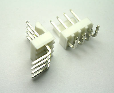 10pcs Molex/Waldom KK Connectors, Right Angle, 4pos, 2.54mm  22-05-3041
