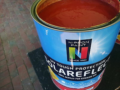 Nippon 4 Litre Exterior Solareflect Semi-Gloss Self-Primer Mid-Red Colour Paint
