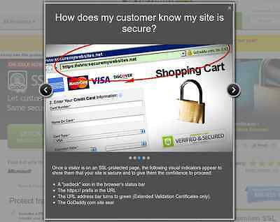 Discount pricing on SSL certificates for secure shopping websites
