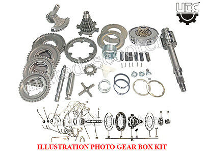 Vespa Gear Box PX 150 Kit With 21 Cogs X 6 Springs Clutch & 68 Cogs Crono Gear