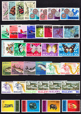 Malawi #127//302 Mint Hinged 37 Different 1970-1977 Issues, Cv$30.15 - Dv32