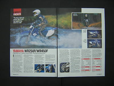 Yamaha WR250F WR450F First Test from 2002 WR 250 450