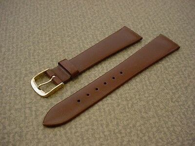 Mens Speidel NOS 19mm #R826630BR Brown Genuine Soft Calf Watch Band W2137