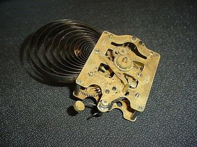Old Seth Thomas Brass Movement Spring Drive Time & Strike Parts or Repair D133b