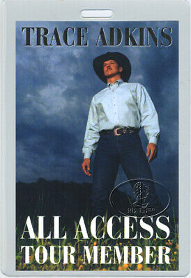 TRACE ADKINS 1999-2000 TOUR Laminated Backstage Pass