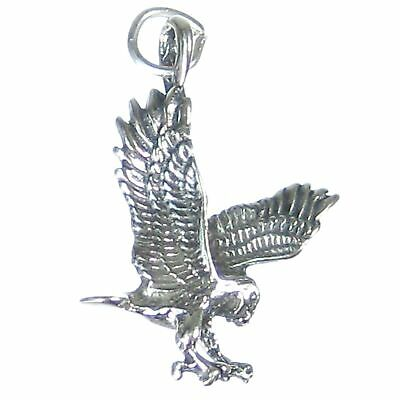 Bald Eagle sterling silver charm .925 x 1 Eagles Eagels charms CF3904
