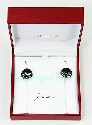 GREAT DEAL! BACCARAT JEWELRY ROCKMANTIC ECLIPSE WIRE EARRINGS SILVER NEW