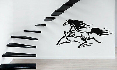 Pair of Bronco Horse Head Flames Vinyl Car Decal fire sticker tribal art AF09