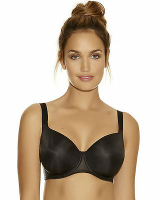 Fantasie Non Padded Underwired Smoothing T-shirt Bra 4520 Black * New Lingerie