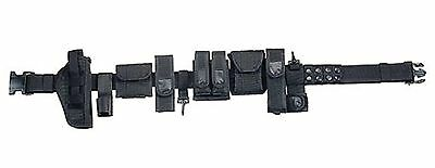 Black Tactical Police Duty Belt - Comes w/ All Attachments Shown! - SuperBelt!