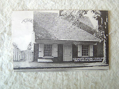 OLD DUTCH HOUSE - CIRCA 1647 - NEW CASTLE, DELAWARE - 1949 -MID 1900'S POST CARD