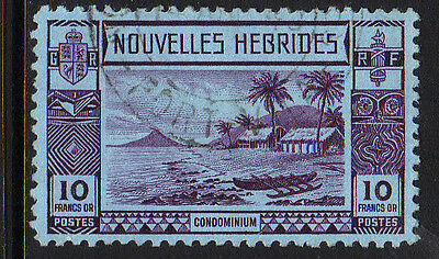 FRENCH NEW HEBS 1938 10f VIOLET/ BLUE SG F64 FINE USED.
