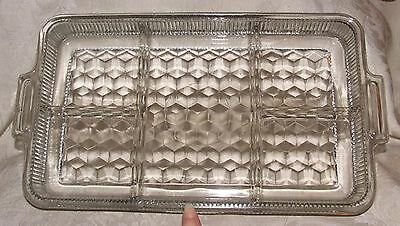 1940s Elegant FOSTORIA AMERICAN #2056 Clear 5 part Divided TRAY Hard to Find