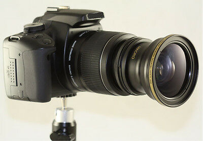 Super Fisheye Wide angle 0.30X lens With adapter ring For Fuji S3200 S4000 S4500