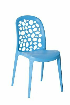 Outdoor CHAIR Stackable RestaurantCafe Seat Dining Chairs Replica Grace Blue