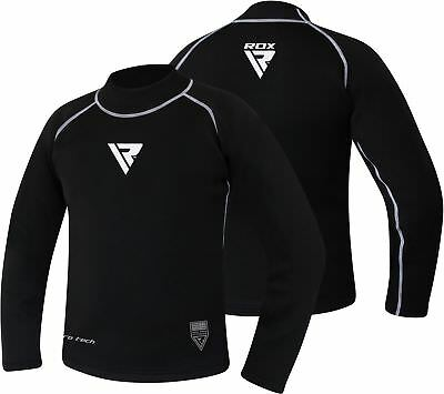 RDX Fight Me Neoprene Sweat Shirt Rash Guard Sauna Suit Weight Loss Top MMA US