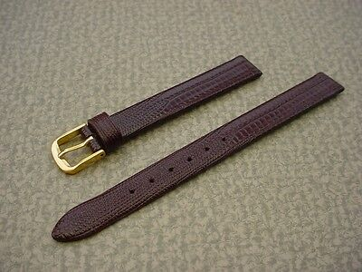 Ladies Speidel NOS 11mm #R251330WNE Wine Gator Grain Leather Watch Band W2154