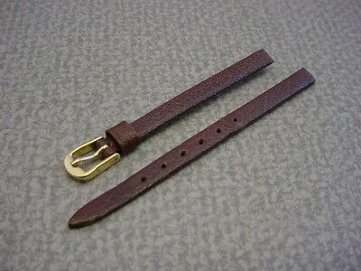 Ladies Speidel NOS 6mm #S441033BR Brown Fine Grain Cowhide Watch Band W2187