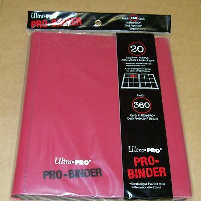 Ultra Pro 9 Pocket Red Pro-Binder holds 360 Magic Pokemon cards in sleeves