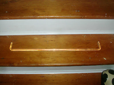 Antique Art Deco Clear & Colorless Glass Rod for Towel or Curtain 1930