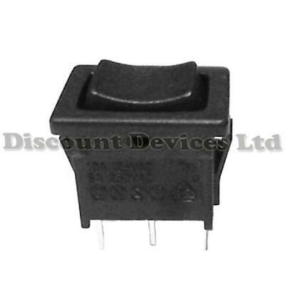 Momentary SPDT 3P Rocker Switch 1 Circuits On-Off-On 6A